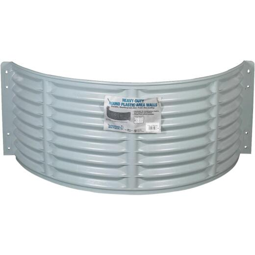 Amerimax 12 In. x 37 In. Round Stackable Plastic Window Well