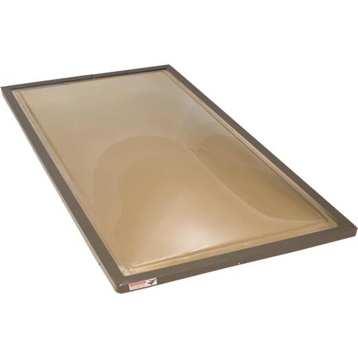 Kennedy Skylights 24 In. x 48 In. Bronze Aluminum Frame Curb Mount Skylight