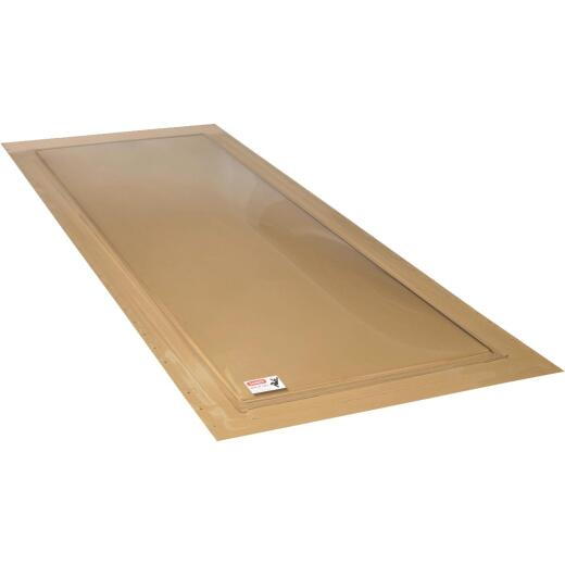 Kennedy Skylights 24 In. x 48 In. Bronze Self-Flashing Domed Skylight