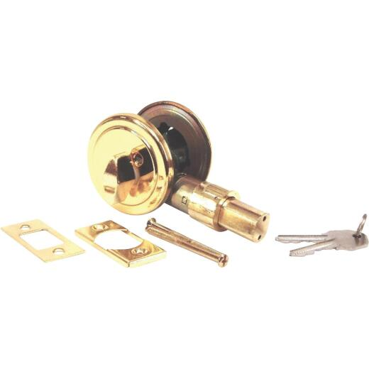 United States Hardware Brass Mobile Home Deadbolt