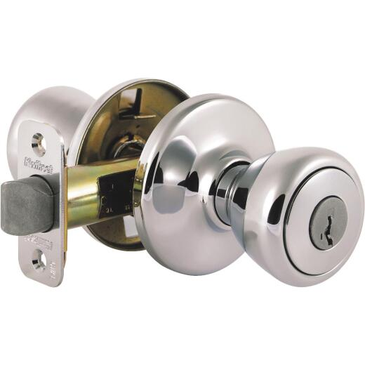 Kwikset Satin Chrome Mobile Home Entry Lockset