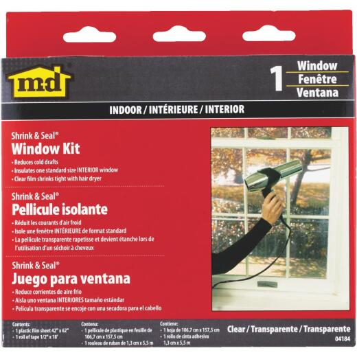 M-D 42 In. x 62 In. Indoor Window Insulation Kit