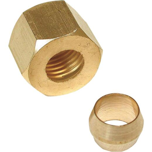 Lasco 1/4 In. Compression Nut and Sleeve