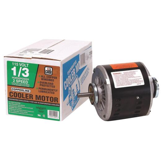 Dial 1/3 HP 2-Speed Residential Replacement Cooler Motor