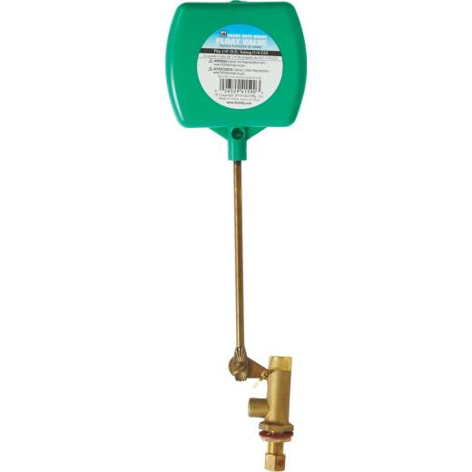 Dial 1/4 In. Brass Deluxe Heavy-Duty Evaporative Cooler Valve w/2-Piece Arm and Adjustable Screw