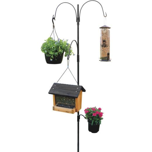 AdjustaPole 7 Ft. Steel Bird Feeder Pole Kit